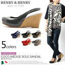 イタリア製 ヘンリー&ヘンリー HENRY&HENRY サンダル COCO ブラック 他全5色(HENRY&HENRY COCO) ウェッジソール サボ サンダ...