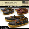 New England NEW ENGLAND 2 over cast moccasin 3 colors 2 OVER CAST MOCCASIN HORWEEN CHROME howen chrome Excel MADE IN the USA America cut loafers crepe sole mens (for men)