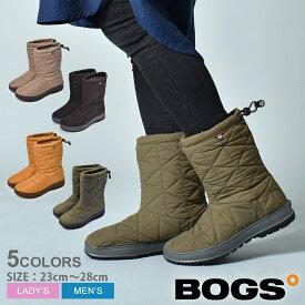 ボグス BOGS スノーブーツ レディース メンズ 防水 防滑 スノーデイ ミッド SNOWDAY MID 72238 001 301 長靴 ミドル丈 レインシューズ スノーシューズ レインブーツ キルティング 長靴 保温 雨 雪 抗菌 防臭 防寒 おしゃれ