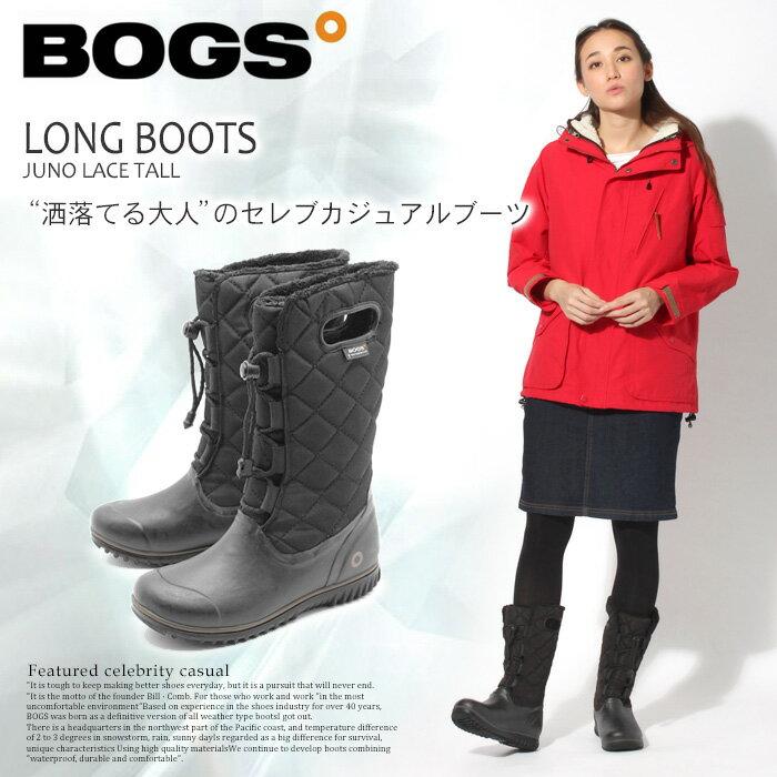 送料無料 ボグス BOGS レディース ジュノ レース トール ブラック(bogs JUNO LACE TALL 71767) レディース(女性用)防水 防滑 保温 スノーブーツ [1216bogs]