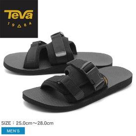 送料無料 TEVA テバ オリジナル スリング スライド ORIGINAL SLING SLIDE 1101250 メンズ テヴァ アウトドア スライドサンダル ビーチサンダル 室内履き ルームシューズ 社内履き アウトドア カジュアル 海 川 軽量 黒