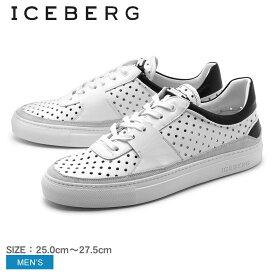 送料無料 アイスバーグ ICEBERG スニーカー 16EIU409A メンズ(男性用) シューズ 天然皮革 カジュアル スニーカー 高級靴 高級スニーカー 本革 イタリア製 ホワイト 白