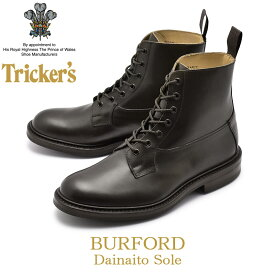 TRICKER'S トリッカーズ カジュアルシューズ エスプレッソバニッシュ バーフォード BURFORD5635/4 レザーブーツ こげ茶 ヴィンテージ調 革靴 レースアップブーツ メンズ(男性用)