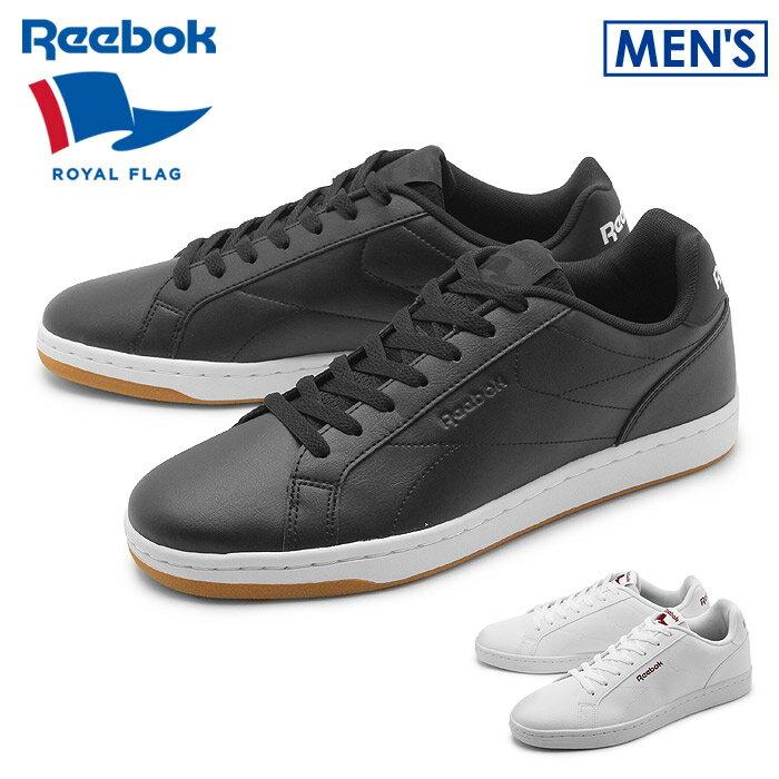 送料無料 リーボック ロイヤル フラッグ REEBOK ROYAL FLAG スニーカー コンプリート クリーン ブラック×ホワイト 他全2色 COMPLETE CLN AWE06 BS7342 BS7343靴 シューズ 黒 白 メンズ