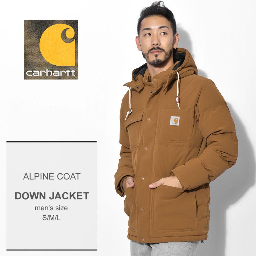 送料無料 CARHARTT カーハート ダウンジャケット ブラウンアルパイン コート ALPINE COATI023081 16 メンズ