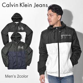 送料無料 CALVIN KLEIN JEANS カルバンクライン ジーンズ アウトドア ジャケット 全2色 カラーブロック フーデッド カジュアルウェア アウター スポーツスタイル ナイロンジャケット ウインドブレーカー J30J307781 402 112 メンズ