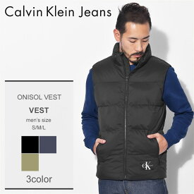 CALVIN KLEIN JEANS カルバンクラインジーンズ ベスト オニゾール ベスト ONISOL VEST 41J1542 010 429 475 メンズ 黒 ブラック 中綿 ウェア アウター トップス CK シンプル ベーシック ロゴ ブランド|aki-ou sale|