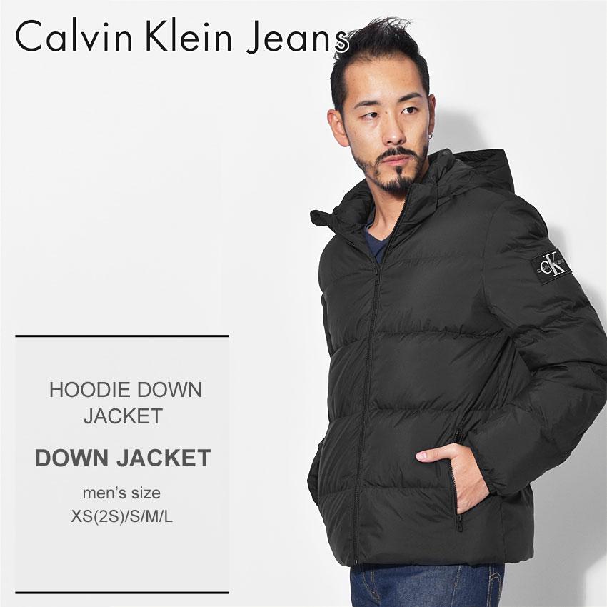 【最大500円OFFクーポン】 送料無料 CALVIN KLEIN JEANS カルバンクラインジーンズ ダウンジャケット ブラックフーディー ダウンジャケット HOODIE DOWN JACKETJ30J309487 099 メンズ