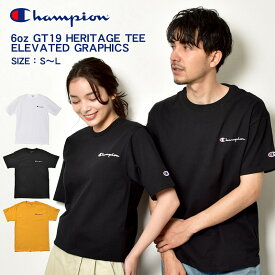 【メール便可】 CHAMPION チャンピオン 半袖Tシャツ 6oz GT19 ヘリテージ Tシャツ エレベイテッド グラフィックス 6oz GT19 HERITAGE TEE ELEVATED GRAPHICS Y06819 メンズ ロゴ トップス ウェア シンプル カジュアル