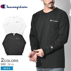 【メール便可】 チャンピオン 長袖Tシャツ HERITAGE L/S TEE GT47 YO6819 メンズ ロゴ トップス ウェア シンプル カジュアル 長袖 黒 白 ブランド ロングスリーブ 部屋着 運動 スポーツ スポーティ クルーネック コットン