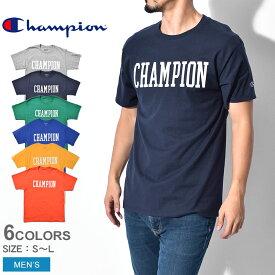 【メール便可】 CHAMPION チャンピオン 半袖Tシャツ カレッジフォントロゴ Tシャツ ADULT MEN SHORT SLV GT23H メンズ ブランド プリント ロゴ トップス ウェア シンプル カジュアル カットソー ティーシャツ 無地 半袖 青 黄
