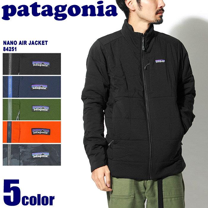 送料無料 PATAGONIA パタゴニア アウトドアジャケット ナノエア ジャケット ブラック 他全5色NANO AIR JAVKET 84251マウンテンパーカー カジュアル ウェア アウター トレッキング 登山 野外 フェス 黒 青 赤メンズ