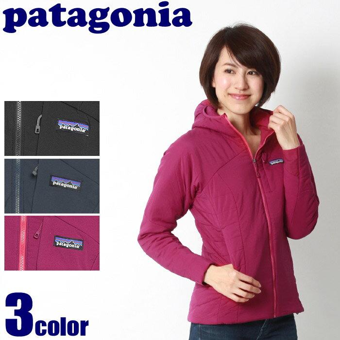 送料無料 PATAGONIA パタゴニア ジャケット ナノエア フーディ ブラック 他全3色NANO AIR HODDY 84266ウェア アウター マウンテンパーカー ウインドブレーカー 登山 野外 フェス 黒 青 ピンクレディース
