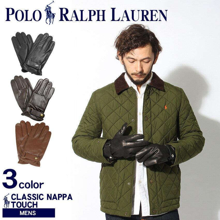 送料無料 ポロ ラルフローレン POLO RALPH LAUREN クラシック ナッパ タッチ グローブ ブラック 他全3色 6G0097手袋 小物メンズ 黒
