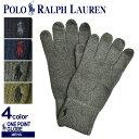 【メール便可】POLO RALPH LAUREN ポロ ラルフローレン 手袋 ワンポイント グローブ PC0493 メンズ ワンポイント 暖か…