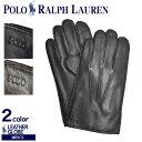【メール便可】 POLO RALPH LAUREN ポロ ラルフローレン 手袋 レザー グローブ PG0051 メンズ 革 シンプル レザー プ…