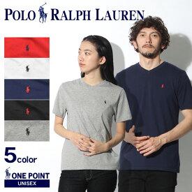 【メール便可】 POLO RALPH LAUREN ポロ ラルフローレン Tシャツ ワンポイント Vネック 半袖Tシャツ 323-674983 メンズ レディース ブランド ボーイズ シンプル ウェア リトルポニー カジュアル グレー Vネック 白 紺 赤 黒 無地 半袖 刺繍