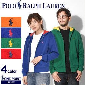 送料無料 POLO RALPH LAUREN ポロ ラルフローレン パーカー 全4色ワンポイント フルジップフーディ カジュアルウェア トップス323-703447 001 002 003 004 メンズ レディース