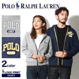 送料無料 POLO RALPH LAUREN ポロ ラルフローレン パーカー 全2色ロゴ フルジップフーディ323-702753 001 002 メンズ レディース ウェア トップス アウター