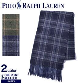 POLO RALPH LAUREN ポロ ラルフローレン マフラーワンポイント チェックマフラーPC0229 352 433 メンズ レディース