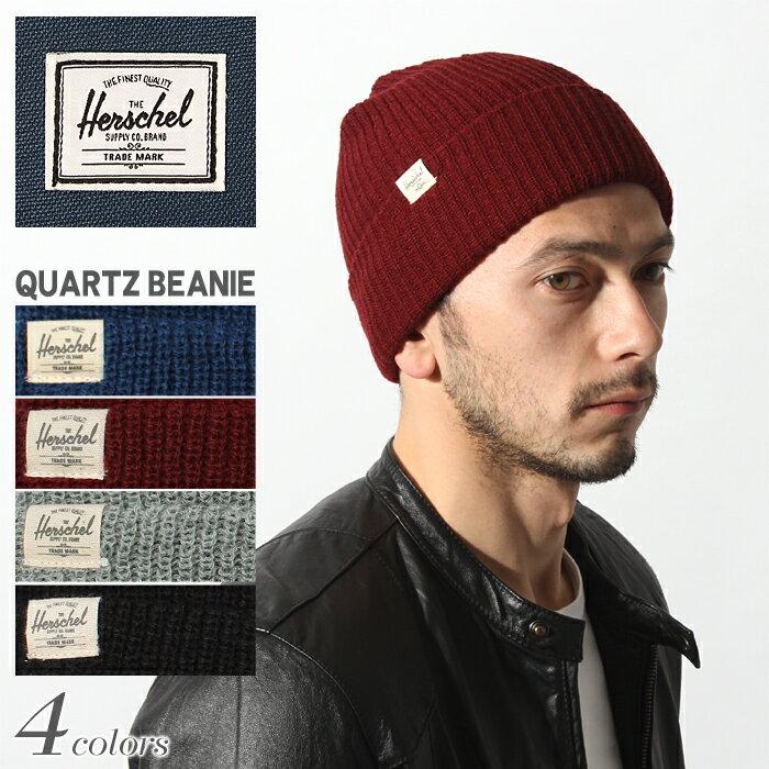 HERSCHEL SUPPLY ハーシェル サプライ クオーツ ビーニー 全4色QUARTZ BEANIE 1013 0146 0078 0003 0001帽子 ニット帽 ニットキャップ ニット ロゴ メンズ(男性用) 兼 レディース(女性用)