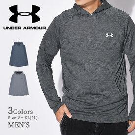 アンダーアーマー パーカー UNDER ARMOUR UA テック 2.0 フーディー メンズ ブラック 黒 UA TECH 2.0 HOODIE 1328703 アパレル トップス フード スポーツ トレーニング シンプル ブランド ロゴ フリース カンガルー グレー ブルー