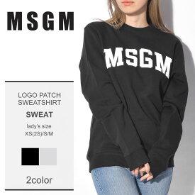 送料無料 MSGM エムエスジーエム スウェットロゴパッチ スウェットシャツ LOGO PATCH SWEATSHIRT2541MDM163 99 94 レディース
