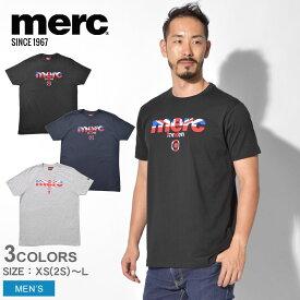 【メール便 送料無料】 MERC メルクロンドン 半袖Tシャツ ブロードウェル Tシャツ BROADWELL メンズ ウェア トップス ユニオンジャック シンプル ベーシック ロゴ ブランド クラシック ブリティッシュ プレゼント ギフト 英国 半袖 黒