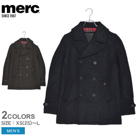 MERC メルクロンドン ジャケット ドイル ウール ピーコート DOYLE WOOL PEACOAT 1115205 メンズ ウェア トップス ブランド 刺繍 定番 クラシカル 贈り物 ポケット ボタン 黒 上着 羽織り