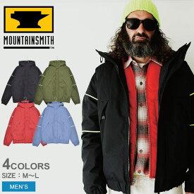 MOUNTAIN SMITH マウンテンスミス アウトドアジャケット トラック ジャケット TRACK JACKET MS0-000-190101 メンズ アウター シンプル カジュアル アウトドア レジャー キャンプ ブランド 上着 登山 保温 防寒 黒 青 赤