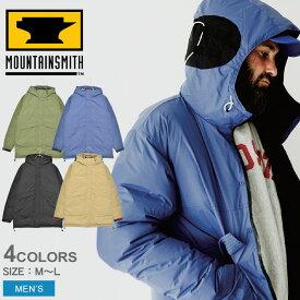 MOUNTAIN SMITH マウンテンスミス アウトドアジャケット ダウン ロングパーカー DOWN LONG PARKA MS0-000-190103 メンズ アウター シンプル アウトドア レジャー キャンプ 上着 登山 保温 防寒 黒 青