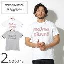 送料無料 メゾン キツネ MAISON KITSUNE Tシャツ ストライプ MK Tシャツ ホワイト 他全2色MAISON KITSUNE STRIPED MK …