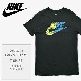 51c44068079  メール便可 NIKE ナイキ Tシャツ ブラックYTH ハーフ フューチュラ Tシャツ YTH