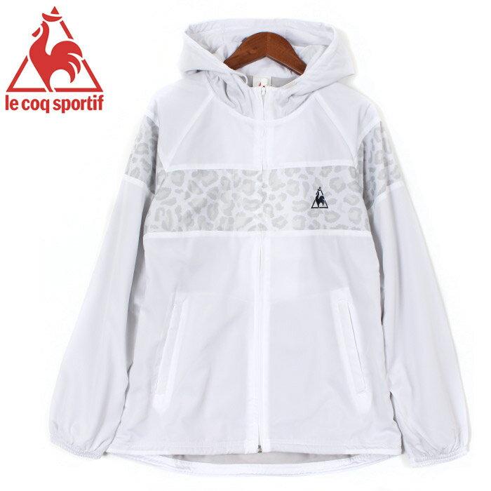 送料無料 ル コック スポルティフ LE COQ SPORTIF ジャケット ウィンドジャケット ホワイト(LE COQ SPORTIF QB-575463 WHT)レディース(女性用) レディース アウトドア ウェア カジュアル デイリー スポーツ
