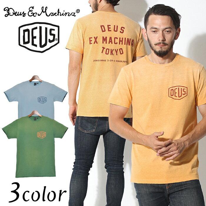 DEUS EX MACHINA デウス エクス マキナ 半袖Tシャツ サンブリーチ Tシャツ スカイブルー 他全3色SUNBLEACHED TEE S/S DMP71462半袖 ロゴ プリント トップス ウェア T-SHIRTS メンズ