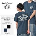 【メール便可】 送料無料 DEUS EX MACHINA デウス エクス マキナ 半袖Tシャツ 全3色ベニス アドレス ショートスリーブ VENICE ADDRESS S/ST-DMW41808C メ