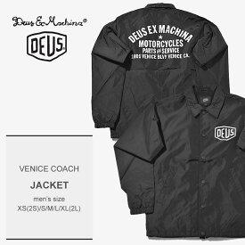 送料無料 DEUS EX MACHINA デウス エクス マキナ ジャケット ブラック ベニス コーチ VENICE COACH DMW46821C メンズ ロゴ トップス ジャンパー シンプル 羽織り 上着 長袖 カジュアル ジャケット 襟付き 襟 かっこいい プリント