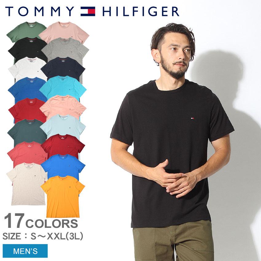 【メール便可】 送料無料 TOMMY HILFIGER トミーヒルフィガー Tシャツ ベーシック コットン コア フラッグ 全7色Basic Cotton Core Flag 09T3139クルーネック インナー コットン 無地 大きいサイズ クールビズ メンズ