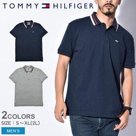 送料無料 TOMMY HILFIGER トミーヒルフィガー ポロシャツ クラシックステッチ ポロ CLASSIC STITCH POLO DM0DM05509 002 038 メンズ カジュアル スポーツ ウェア トップス シンプル ロゴ ワンポイント 紺