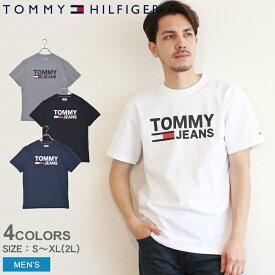 【メール便 送料無料】 トミーヒルフィガー トミージーンズ 半袖 Tシャツ クラシック ロゴTシャツ TOMMY HILFIGER CLASSIC LOGO TEE DM04837 メンズ カットソー トップス 春 服 夏 コットン ブランド おしゃれ|sale|