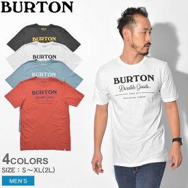 【メール便可】 BURTON バートン 半袖Tシャツ DURABLE GOODS SS TEE 203821 001 100 400 600 メンズ ブランド トップス ウェア アウトドア キャンプ カジュアル おしゃれ シンプル ロゴ 黒 白