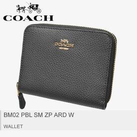 【メール便可】送料無料 COACH コーチ 財布BM02 PBL SM ZP ARD WF24808 IMBLK レディース