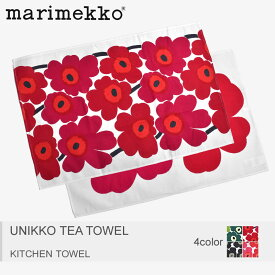 【大決算】【メール便可】 MARIMEKKO マリメッコ キッチンタオル 全4色ウニッコ ティー タオル UNIKKO TEA TOWEL66943 160 131 030 001
