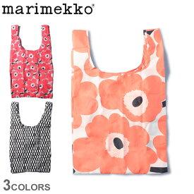 【メール便可】 マリメッコ バッグ MARIMEKKO スマートバッグ メンズ レディース ベージュ ピンク SMART BAG 48634 マルシェバッグ 北欧 ブランド 花柄 おしゃれ 持ち運び コンパクト 買い物 袋 鞄 手さげ ギフト プレゼント エコバッグ サブバッグ