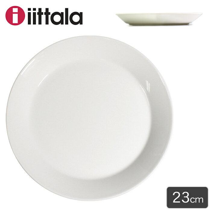 イッタラ IITTALA ティーマ プレート 23cm ホワイト(TEEMA PLATE WHITE 1005472)ディッシュ 皿 丸皿 キッチン インテリア 食器 料理 食洗機対応 陶磁器 ギフト プレゼント 北欧 雑貨 フィンランド