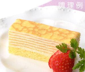 フリーカットケーキ ミルクレープ ( 約 360 × 70 × 33mm ) 味の素スイーツ おやつ デザート 洋菓子 家庭用 業務用 [店舗にもお勧め] [食卓にもお勧め] [冷凍食品] 母の日 2019 プレゼント ギフト