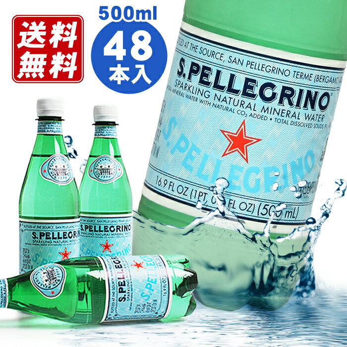 炭酸水 サンペレグリノ [SAN PELLEGRINO] 500ml×48本入 正規輸入品硬水 Sparkling water スパークリングウォーター最安値挑戦中 自在【RCP】