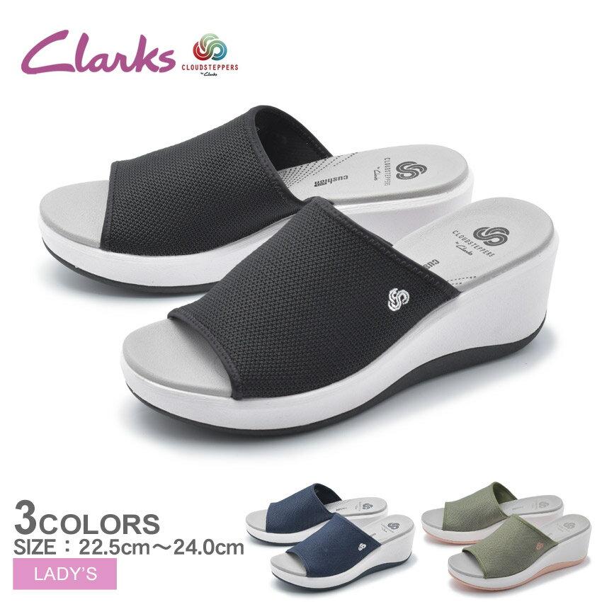 CLARKS CLOUDSTEPPERS クラークス ステップ カリ ベイ サンダル STEP CALI BAY 26141497 26141499 26140730 レディース ブラック コンフォートサンダル カジュアル シンプル オフィス 室内履き 靴 黒 誕生日 プレゼント ギフト