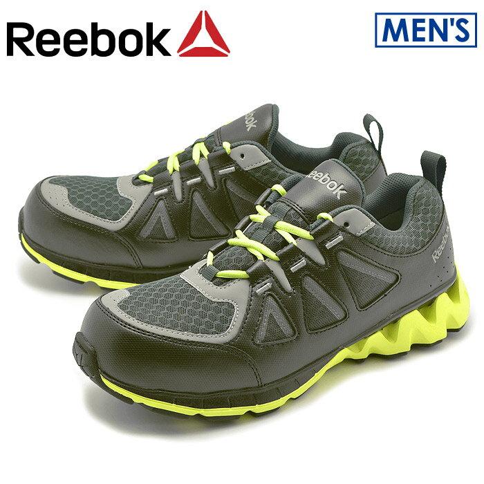 リーボック ジグキック ワーク ブラック×グリーン (reebok zigkick work RB3015) ジグテック 安全靴 作業靴 スニーカー 誕生日プレゼント 結婚祝い ギフト おしゃれ