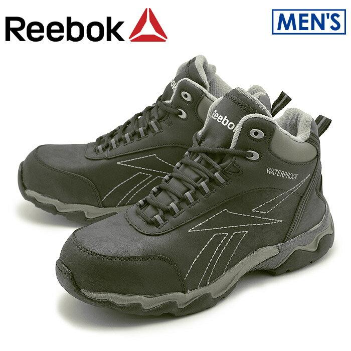 リーボック ワーク ビーマーブーツ ブラック (reebok work beamer boots RB1068) 安全靴 作業靴 本革 レザー 防水 ウォータープルーフ 誕生日プレゼント 結婚祝い ギフト おしゃれ